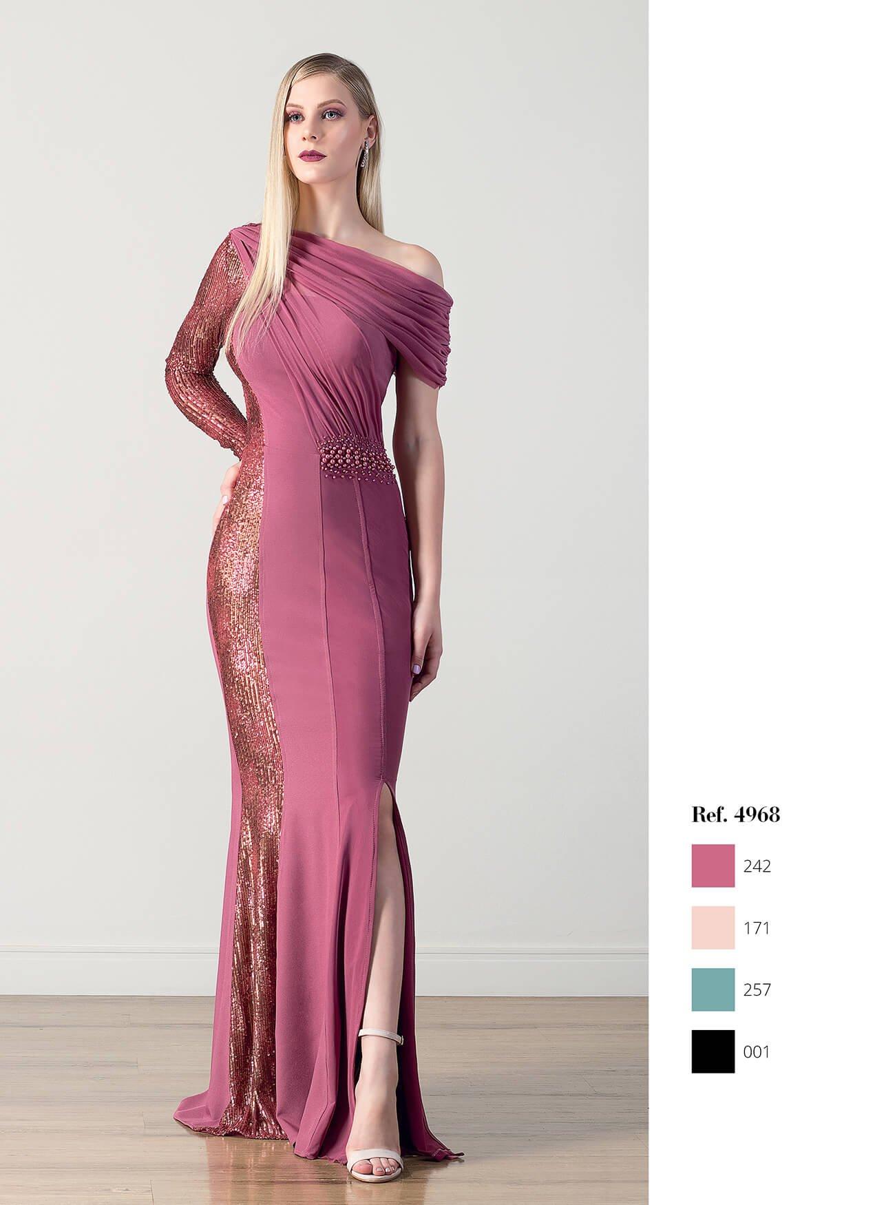 Vestido longo sereia com paetê