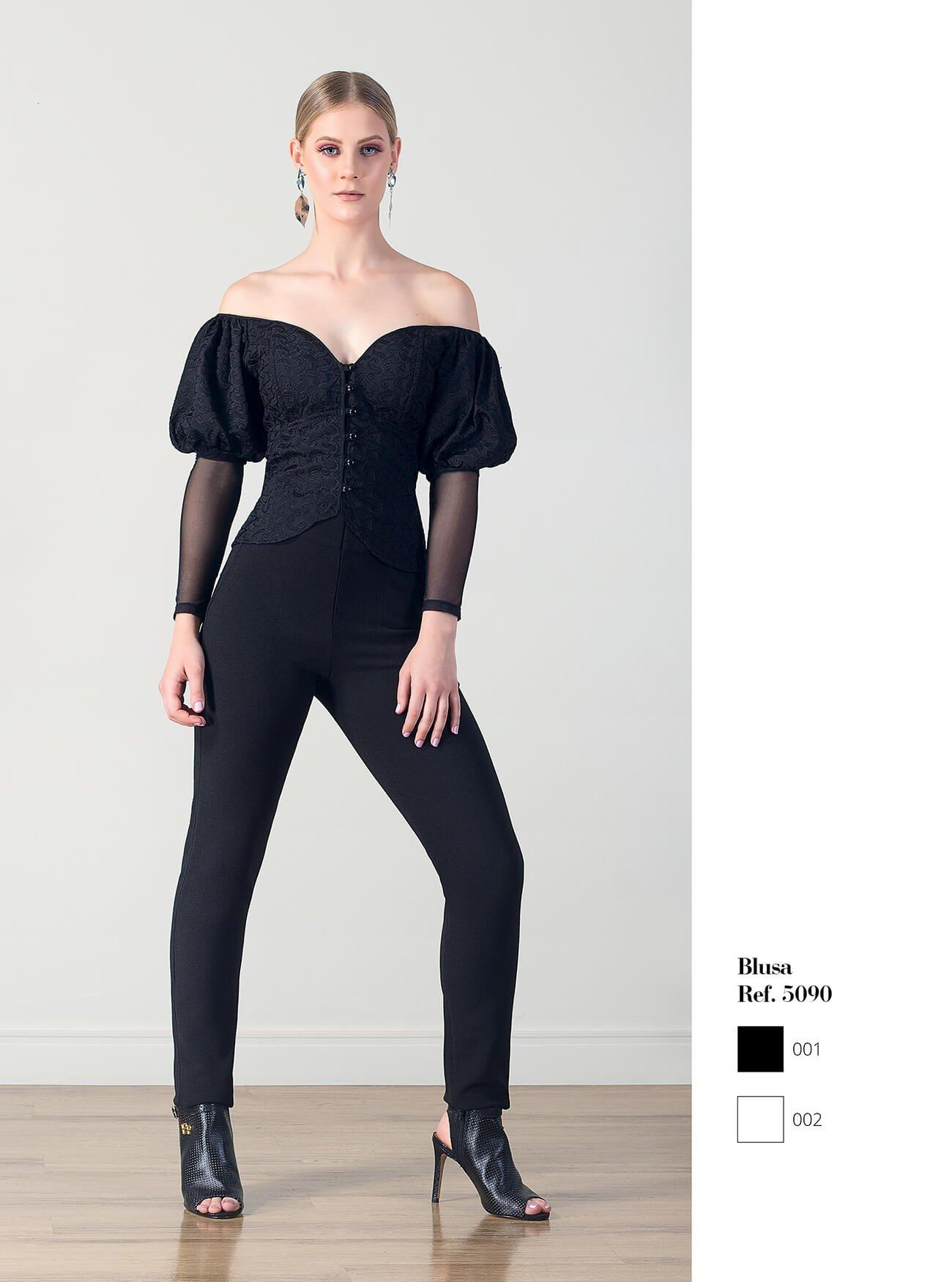 Blusa estilo vitoriano